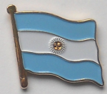 Argentina Country Flag Enamel Pin Badge